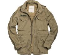Herren Field-Jacket Baumwolle khaki beige,braun