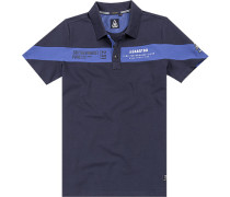 Polo-Shirt Polo Baumwolle navy