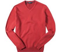 Pullover Baumwolle feuerrot