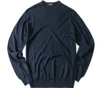 Pullover, Seide-Kaschmir, marine