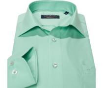 Herren Hemd Modern Fit Popeline hellgrün