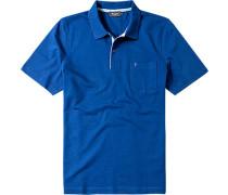 Polo-Shirt Polo Baumwoll-Piqué kobaltblau