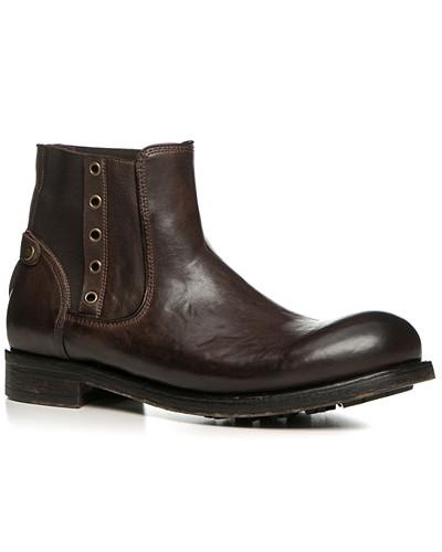 Schuhe Chelsea Boots, Leder gebrusht, testa di moro