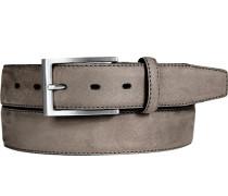 Herren Gürtel grau Breite ca. 3,5 cm