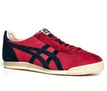 Schuhe Sneaker Veloursleder karmesinrot-marineblau ,schwarz