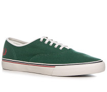 Herren Schuhe Sneaker Canvas grün grün,weiß