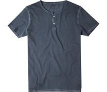 Herren T-Shirt Baumwolle blaugrau meliert