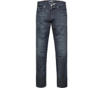 Bluejeans Slim Fit Baumwoll-Stretch dunkelblau