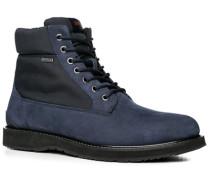 Schuhe Stiefeletten Microfaser-Veloursleder wasserabweisend dunkelblau