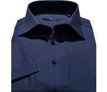 Herren Oberhemd Slim Fit Popeline marine blau