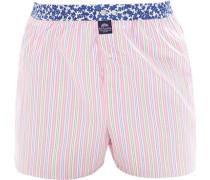 Unterwäsche Boxershorts Baumwolle rosé-blau gestreift