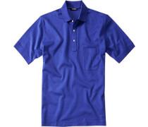 Polo-Shirt Polo, Baumwoll-Piqué, royalblau