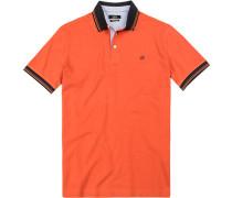 Polo-Shirt Polo, Baumwoll-Piqué, blutorange