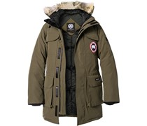 herren jacke daunenparka microfaser mix echtpelz khaki. Black Bedroom Furniture Sets. Home Design Ideas