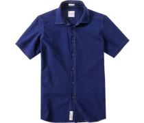Herren Hemd Modern Fit Popeline dunkelblau