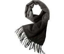 Herren  Schal Wolle grau-schwarz kariert