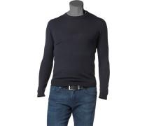 Pullover Merinowolle nachtblau