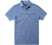 Polo-Shirt Polo Baumwoll-Piqué taubenblau