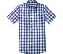 Hemd Modern Fit Chambray dunkelblau-weiß kariert