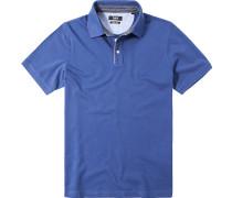 Polo-Shirt Polo Baumwoll-Piqué königsblau