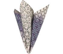 Accessoires Einstecktuch, Baumwolle-Seide, blau gemustert