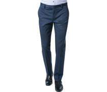 Herren Hose Slim Fit Baumwoll-Stretch dunkelblau