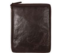 Tasche Tablet Hülle Leder dunkelbraun