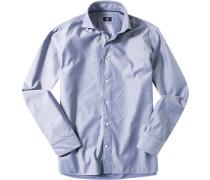 Hemd Modern Fit Popeline -weiß gemustert