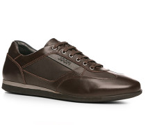 Herren Schuhe Sneaker Kalbleder-Nylon dunkelbraun schwarz,braun