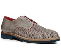 Schuhe Derby Veloursleder marrone-grigio