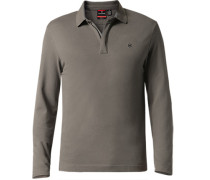 Zip-Polo-Shirt Baumwoll-Piqué