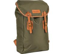 Tasche Rucksack, Microfaser, olivgrün