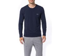 Schlafanzug Long-Sleeve Baumwolle navy