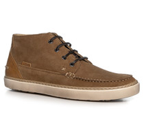 Herren Schuhe Desert Boots Veloursleder cognac braun,beige