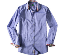 Hemd Slim Fit Chambray bleu