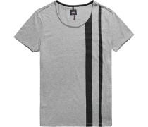 T-Shirt, Baumwolle, -schwarz gestreift