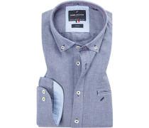 Hemd, Modern Fit, Oxford, bleu