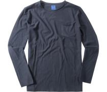 T-Shirt Modern Fit Baumwolle marineblau