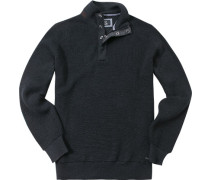 Pullover Troyer Woll-Mix anthrazit