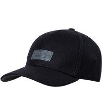 Cap, Woll-Mix, navy meliert