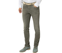 Jeanshose, Modern Fit, Baumwolle, taupe
