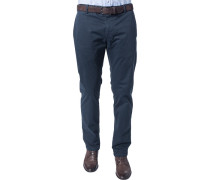 Herren Hose Chino Regular Fit Baumwoll-Stretch anthrazit grau