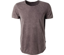 T-Shirt, Baumwolle, graubraun