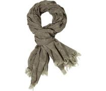 Schal, Baumwolle, khaki gemustert