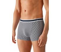 Herren Unterwäsche Trunk Baumwoll-Stretch marine-weiß gestreift blau