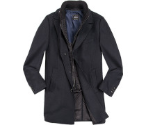 Mantel Ellson Wolle-Kaschmir marineblau gestreift