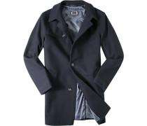 Mantel Wolle dunkelblau