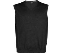 Pullover Pullunder Modern Fit Merinowolle graphit