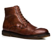 Herren Schuhe Stiefeletten Bisonleder cuoio braun,rot
