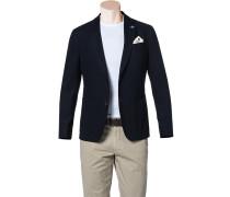 Jersey-Sakko Regular Fit Baumwolle halbgefüttert nachtblau